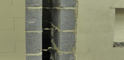 An example of ties between the cavity wall