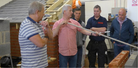 The country's leading expert  Bryan Hindle of Bricktie Leeds,  passing on his knowledge